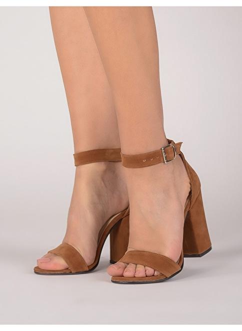 Mecrea Kalın Topuklu Sandalet Taba